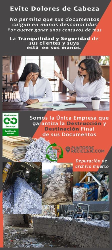 Destruccion de Archivo Ruta de Reciclaje los Mártires